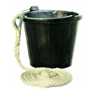 RUBBER BUCKET WITH ROPE Guminis kibiras su virve