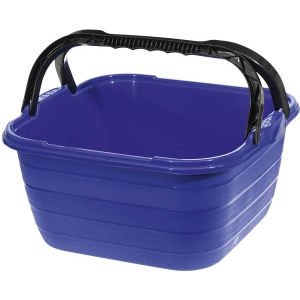 WASHING BOWL SQUARE WITH CARRYING HANDLE Kvadratinis dubuo su ra