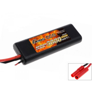 Gens Ace 3000mAh 7.4V 25C 2S1P Hard Case LiPo Battery Pack