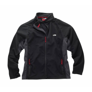 GILL MEN'S GRID MICROFLEECE JACKET BLACK M